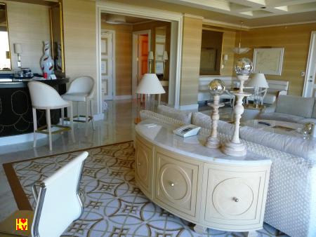 Onze suite in het Wynn Hotel