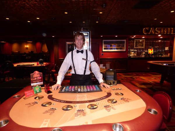 Blackjack tafel in The Golden Gate Casino