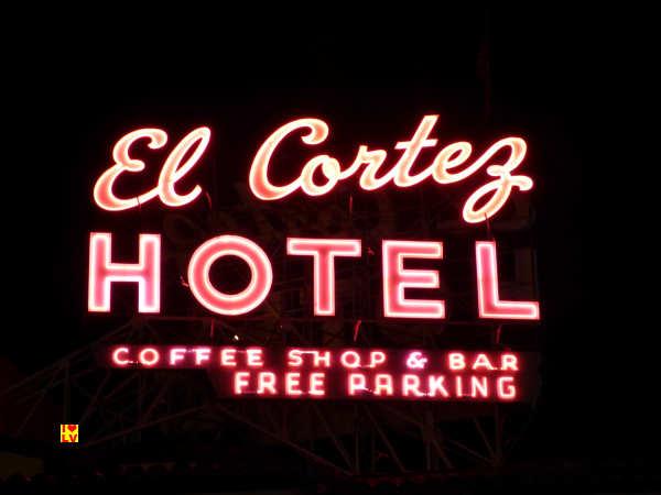 Prachtige Neon El Cortez Hotel in Las Vegas