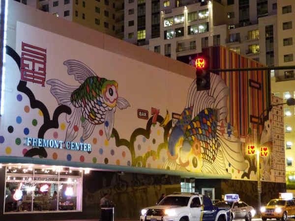 Mooie muurschilderingen in Downtown Las Vegas