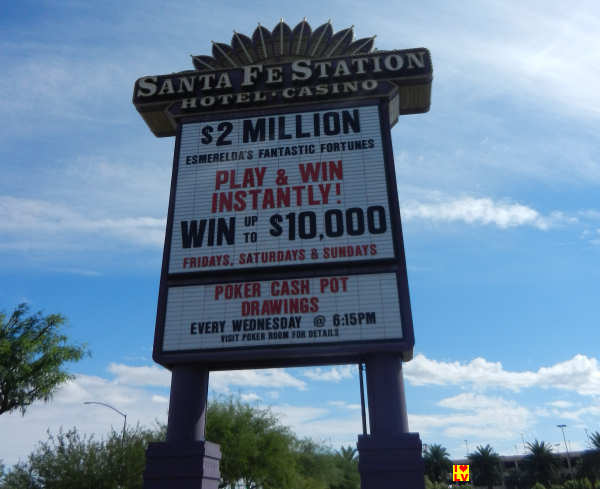 Sign Sante Fe Station Hotel Casino