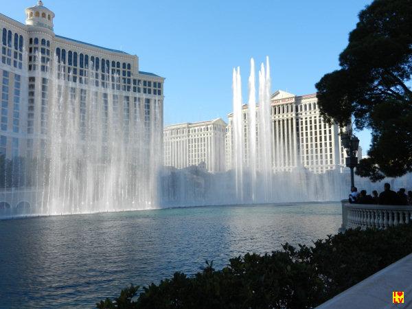 Het is elke keer weer genieten als je de fonteinenshow voor het Bellagio ziet