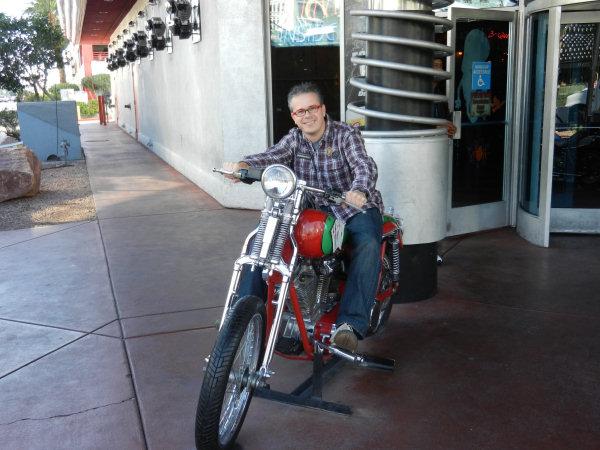 Broem, broem, ik zit op een echte Harley ;-)
