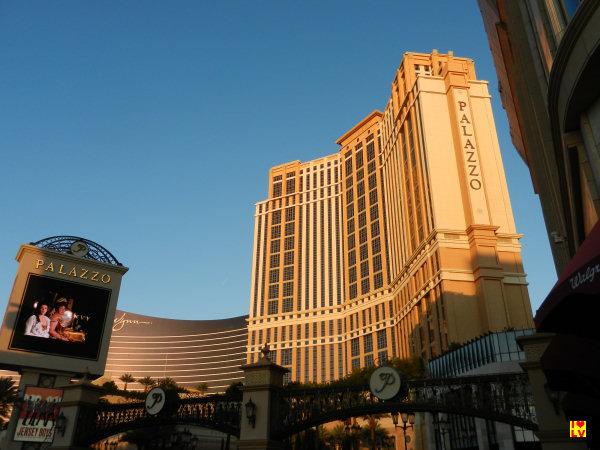 Het Palazzo Hotel en op de achtergrond het Wynn hotel. Hier gaan we buffetten.