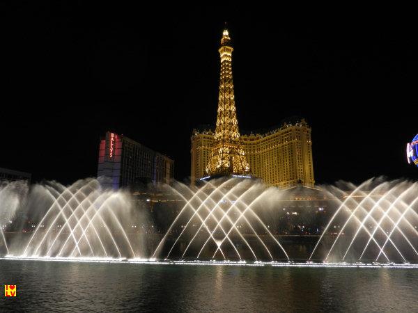 Prachtig zicht op het Paris Hotel in las Vegas