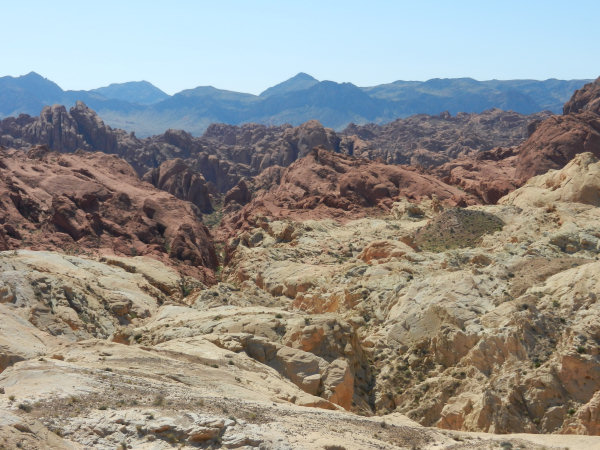 Fire Canyon / Silica Dome in het Valley of Fire State Park