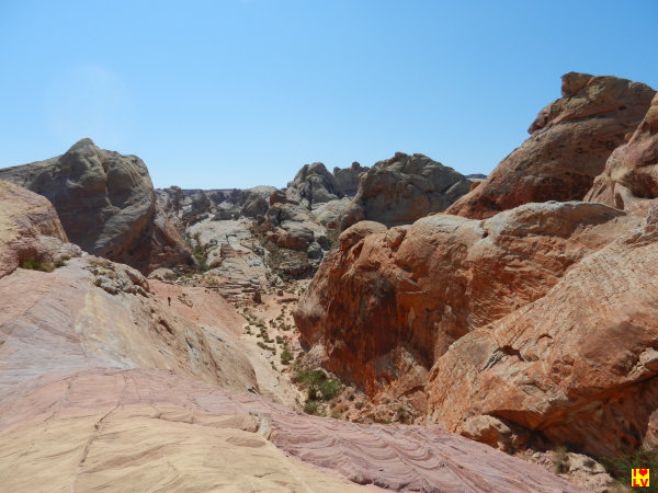 Deze foto is genomen bij de White Domes in Het Valley of Fire State Park
