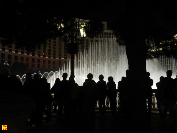 Drukte voor de fonteinen show