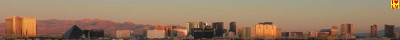 Skyline Las Vegas te zien van het vliegveld in Las Vegas