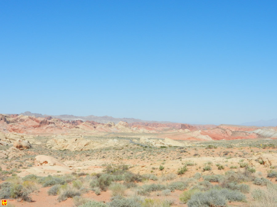 Verschillende prachtige gekleurde rotsen in Valley of Fire.