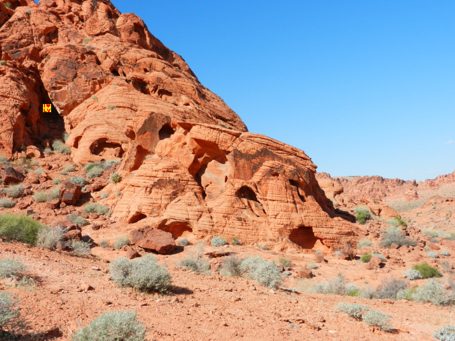 Elephant Rock (met veel verbeelding) in Valley of Fire State Park