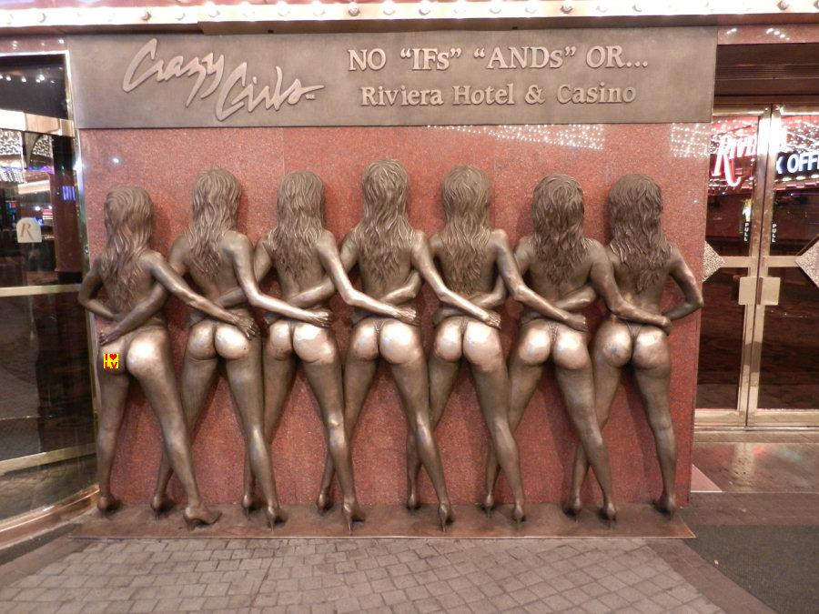 De glimmende billen van de Crazy Girls, Riviera Hotel Las Vegas