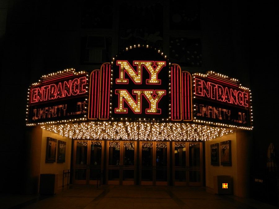 Neons Entrance hotel New York New York in Las Vegas.