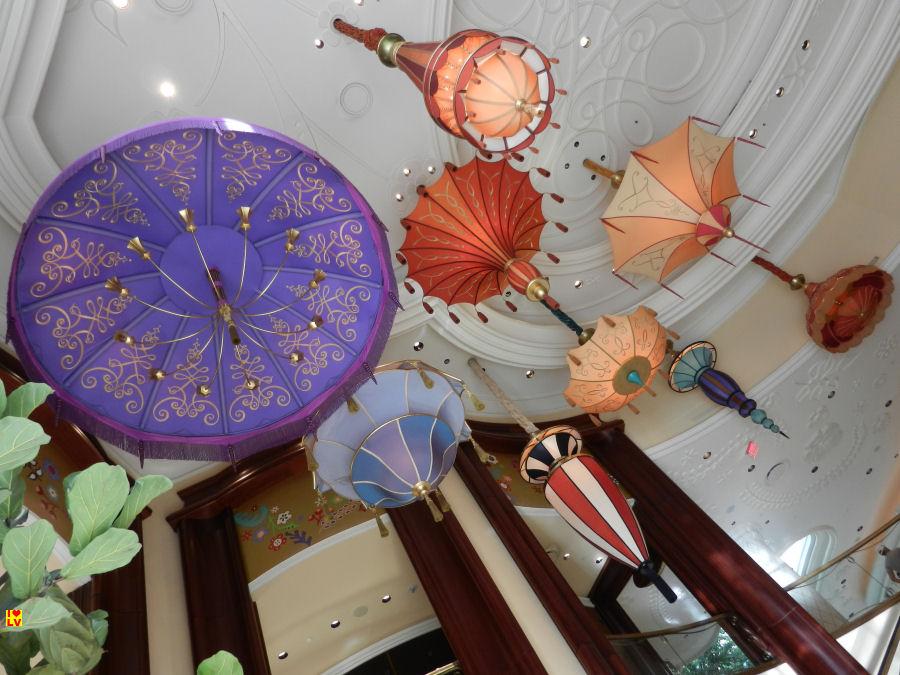 Versierde plafond in het Wynn Hotel & Casino!