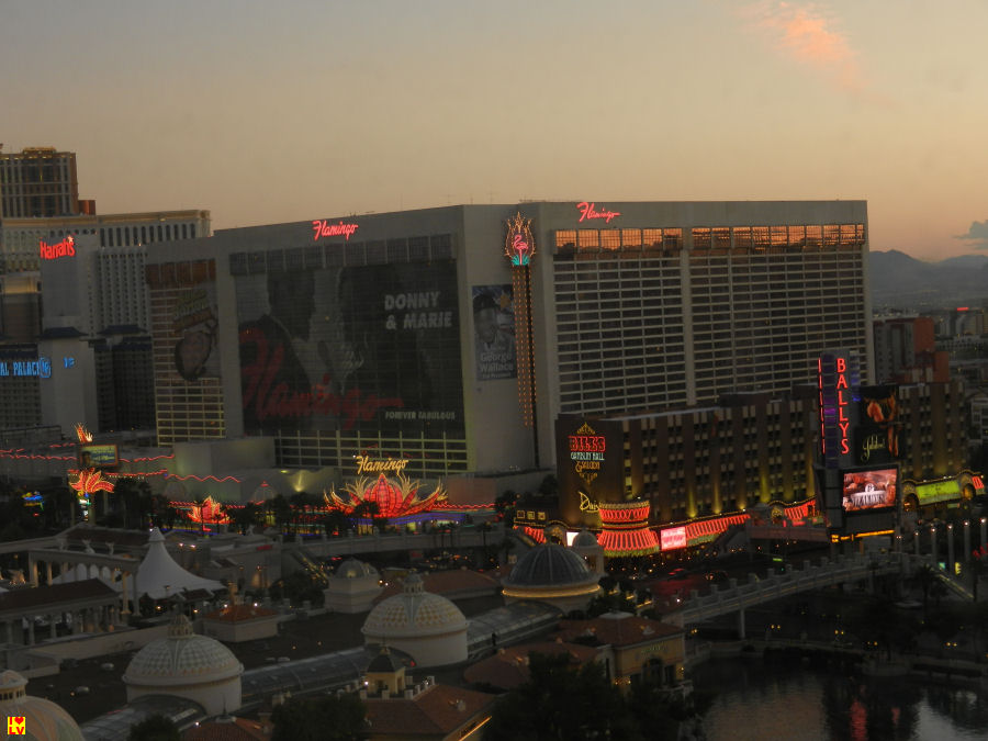 Flamingo Hotel in Las Vegas bij zonsopgang