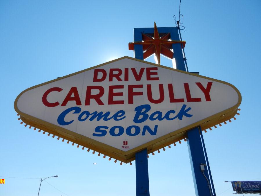 Achterkant Las Vegas Sign
