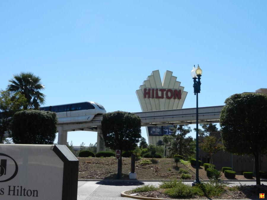 Monorail bij het Hilton Hotel in Las Vegas