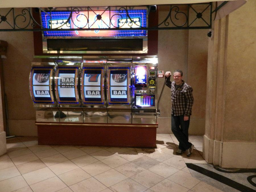 Eén van de grootste gokautomaten in Las Vegas.