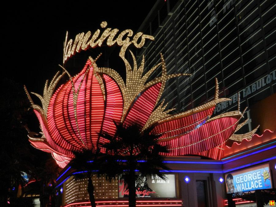 Een echte eyecatcher dit Flamingo neon sign in Las Vegas