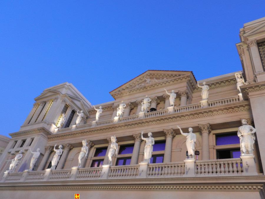 Ceasars Palace staat bekend om haar pachtige thema, het oude Rome.