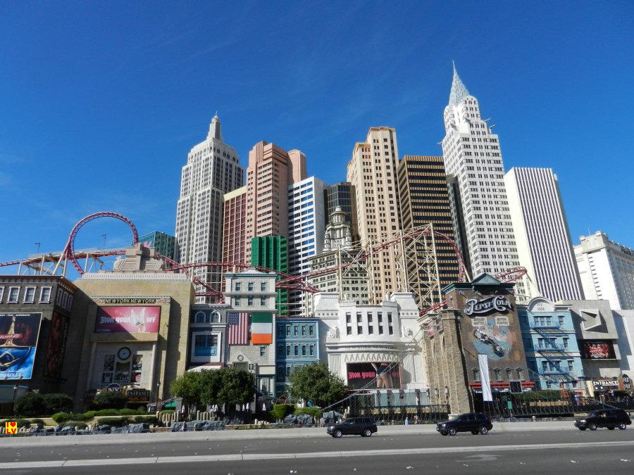 Het prachtige New York New York Hotel en Casino in Las Vegas.