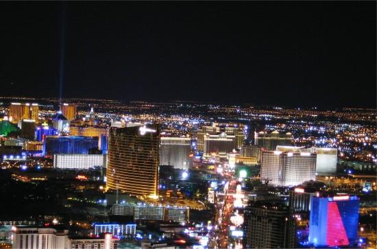 Las Vegas by Night vanaf Stratosphere Tower