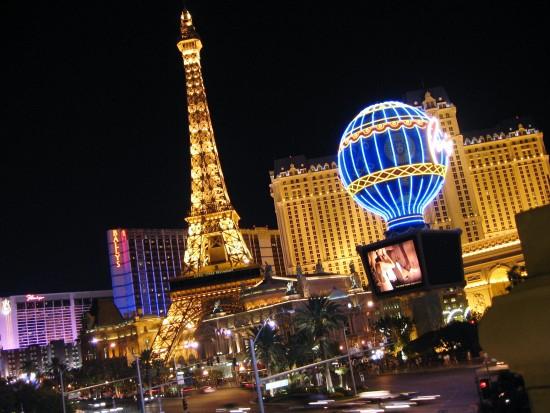Prachtig verlichte Eiffeltoren in Las Vegas