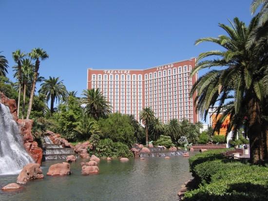 Uitzicht op Treasure Island Hotel