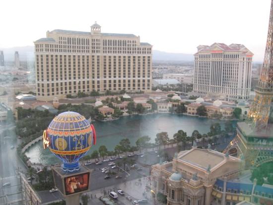 Prachtig uitzicht vanuit het Aladdin Hotel in Las Vegas