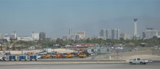 Uitzicht vanaf het vliegveld McCarran in Las Vegas