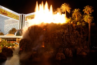 The Volcano at the Mirage Hotel in Las Vegas